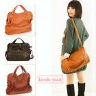 Women Korean Style Hobo School Pu Leather Cross Satchel Handbag Shoulder Bag