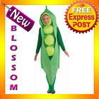 C713 Adult Funny Food Peas Pea Pod Halloween Womens or Mens Costume