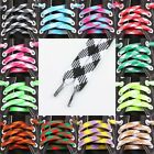 Flat Dual Colored Sneakers Replacement Shoe Boot Cord laces Shoelaces Bootlaces