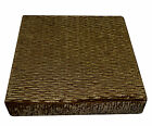 mp04t Bronze Brown Thick Folds Shimmer Velvet 3D Box Sofa Seat Cushion Cover