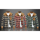 NEW Manly Men's Long Sleeve Casual Slim Fit Plaids Stylish Dress Shirts US LA