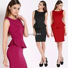 Ladies Sexy Sleeveless Slim Fit Bodycon Cocktail Evening Party Club Pencil Dress