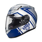 HJC 2015 ADULT Street Helmet CL-17 Mech Hunter MC2F White/Blue XS-3XL