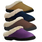 Ladies Coolers Slip on Mule Womens Fur Lined slippers Shoes Flats UK size 3-8