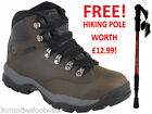 LADIES HILL WALKING BOOTS HI TEC HIKING BOOTS  WATERPROOF - £40 SAVING FREE POLE