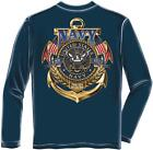 Erazor Bits MM130LS Long SLEEVE Navy the Sea is Ours Navy Shirt