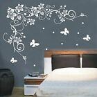flowers vine butterfly wall stick/Vinyl Wall Decals/wall quote-REAL NO OUTLINE
