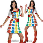 CL49 Deluxe Twister Board Game Dress 60s 70s Retro Fancy Dress Adult Costume
