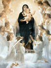 Christian Canvas Art Virgin with Angels Bouguereau Virgin Mary Baby Jesus Repro