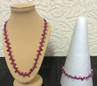 """Kango Made""  Glass dropper Seed bead Necklace & bracelet sets / various colours"