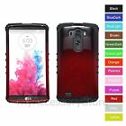 For LG G3 Gradient Red Hard & Rubber Hybrid Rugged Impact Armor Phone Case Cover
