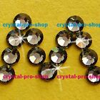 GENUINE Swarovski Black Diamond (215) Crystal (No hotfix) Flat back Rhinestone