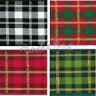 Christmas Tartan Ribbon Wired Beaumont - Choose Colour, Length and Width