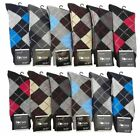 Lot 6 or 12 Pairs Mens Argyle Dress Socks Designer #2Focus2 Fashion Size 10-13