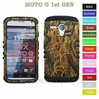 For Motorola MOTO G Camo Mossy Oak Hard & Rubber Hybrid Rugged Impact Case Cover