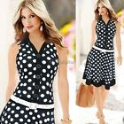 Womens Ladies Sexy V-Neck Bodycon Cocktail Party Evening Slim Dresses Size M-XL
