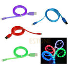 Micro USB LED Light Charge Data Sync Cable For HTC LG Samsung Galaxy S4 S3 S2