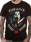 Official The Walking Dead Survive Protect Defend T Shirt Black M L XL XXL