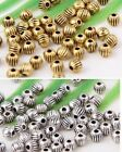 wholesale 110/370Pcs Silver /Gold Plated  Spacer Beads 4mm (Lead-Free)