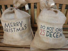 Large Shabby Vintage Brown Hessian Santa Sack/Bag East of India Chic Retro Style