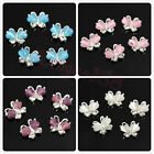 10pcs Plated 3D Butterfly Alloy Nail Art Phone Glitter Beads Decoration Manicure