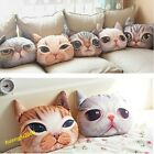 Popular Stuffed Plush 3D Cute Cat Dog Face Throw Pillow Decor Cushion Toy Doll