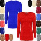 NEW WOMENS LADIES FLUFFY STRETCHY V NECK JUMPER SOFT FUR FLUFFY MOHAIR 8-16