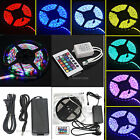 New Hot RGB 3528/5050 5M 150/300 LED SMD Strip Light+IR Controller+Adapter