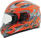 AFX ADULT FX-90 Safety Orange Species Motorcycle Helmet XS-2XL
