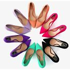 6 Color US Size 5-9 Comfort Suede Leather High Heels Pump Womens Dress Shoes