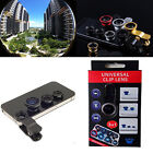 3in1 180° Fish eyeWide Angle Macro Camera Photo Zoom Len clip Kit for Phones new