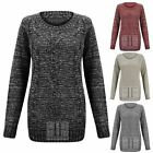 WOMENS LONG SLEEVE CLASSIC DIAMOND CABLE KNIT KNITTED LADIES JUMPER SWEATER TOP