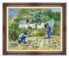 Framed First Steps Vincent van Gogh Painting Reproduction Canvas Fine Art Giclee
