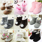 Winter Warm Baby Kid Wool Knited Bowknot Soft Sole Crib Shoes Fleece Snow Boots