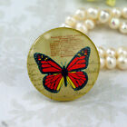 25mm 30mm Butterfly Stamps red cab Handmade glass Photo cabochon 30B082