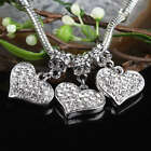 Wholesale White Crystal Rhinestone Heart LOVE Loose Beads Fit EP Charms Bracelet