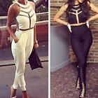 1PC Sexy Lady Gauze Outfits Bodycon Jumpsuit Romper Trousers Clubwear Casual