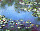 Prints on Canvas Water Lilies Claude Monet Giclee Wall Art Painting Reproduction