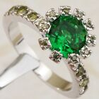 Size 6 7 8 9 Attractive Green Nice Emerald Gems Jewelry Gold Filled Ring K1932