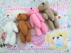 "4 Hand Made Little 3 inch Craft Teddy Bear Doll/Cute/Baby/Gift/Sew H559-3""-Color"