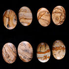30mm Two landscape view picture jasper oval cab cabochon Each item pictured