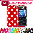 Polka Dots Gel Silicone Rubber Soft Case Cover For Blackberry Curve 9320
