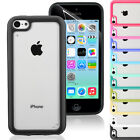 NEW Stylish Bumper Series Case Cover For Apple iPhone 5C FREE Screen Protector