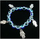 Evil Eye bracelet Evil Eye beads and a dangling Hand stretch bracelet DBE-0473