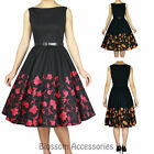 RK95 Audrey Hepburn 50's Rockabilly Swing Evening Pin Up Retro Floral Dress