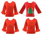 Christmas Holiday Red Top Xmas Tree NWT 1-6/7* U Pick Style for TCK Pettiskirt