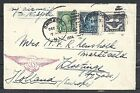United States covers 1924 Early Airmailcover Chicago to Kloetinge