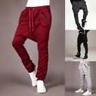 Men's boy Unisex Harlan Tapered Harem Drop Crotch Casual Loose Pants Trousers