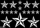 17 Assorted NAUTICAL STAR Sticker gothic punk emo