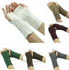 1 Pair New Fashion Unisex Knitted Fingerless Soft Warm Winter Gloves 7 Colors